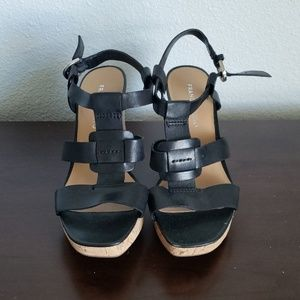Franco Sarto platform wedges sandals